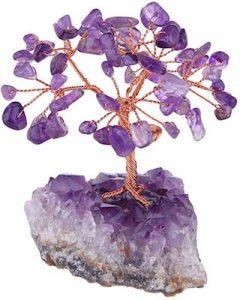 Mookaitedecor - Albero di cristallo con ametista e base in ametista