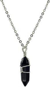 Paialco Jewelry - Collana con ciondolo della guarigione Chakra a punta,