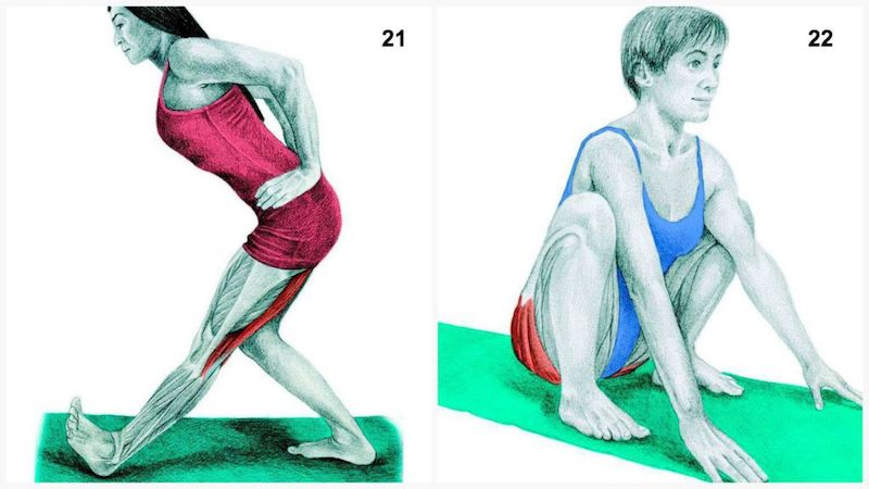 piegamento singolo e deep squat