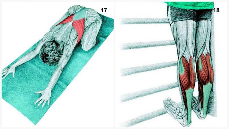 posizione bambino e allungamento polpacci