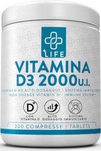 Vitamina D3 Pura 2000 UI PiuLife®